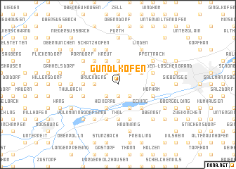 map of Gündlkofen