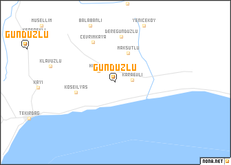 map of Gündüzlü