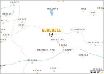 map of Gündüzlü
