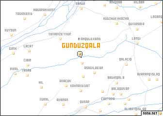 map of Gündüzqala
