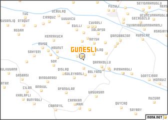 map of Güneşli