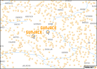 map of Gunjače
