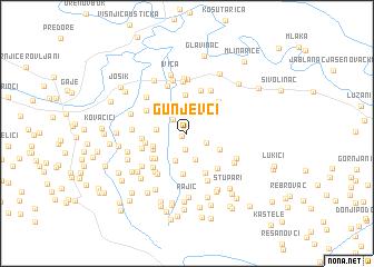 map of Gunjevci