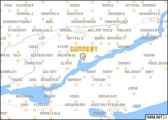 map of Gunneby