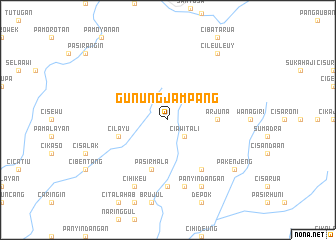 map of Gunungjampang
