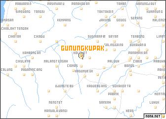 map of Gunungkupak