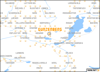 map of Gunzenberg