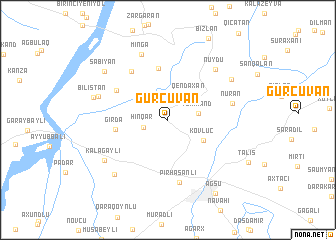 map of Gürcüvan