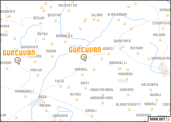 map of Gürcüvǝn