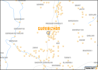 map of Gūr-e Bīzhan