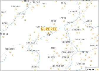 map of Gurë-Reç