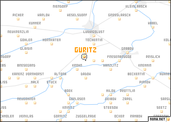 map of Güritz