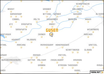 map of Güsen