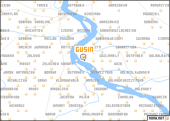 map of Gusin