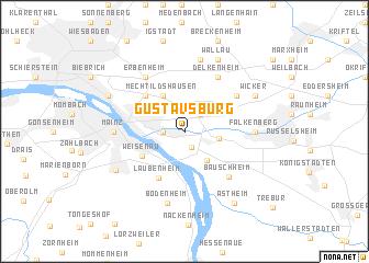 map of Gustavsburg