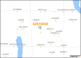 map of Gustavus