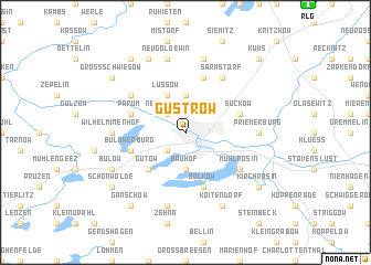 map of Güstrow
