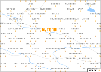 map of Gutanów