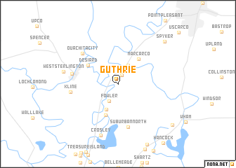 map of Guthrie