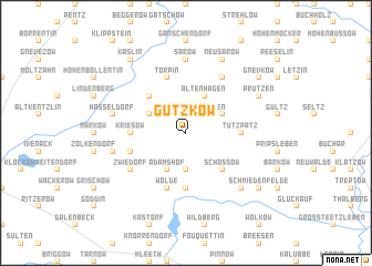 map of Gützkow
