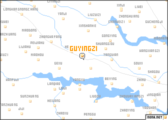 map of Guyingzi