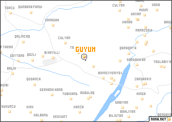 map of Güyüm