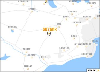 map of Güzdǝk