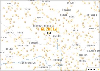 map of Guždelji