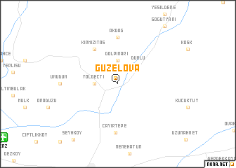 map of Güzelova
