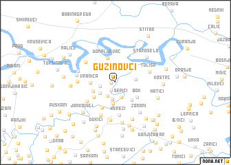 map of Guzinovci