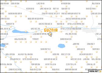 map of Guźnia