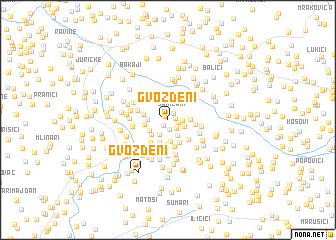 map of Gvozdeni