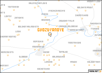 map of Gvozdyanoye