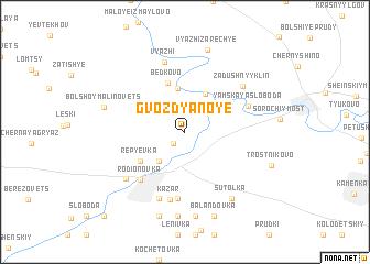 map of Gvozdyanoye