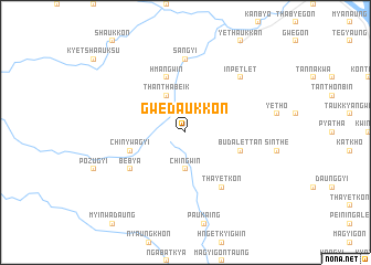 map of Gwedaukkon