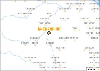 map of Gwedaukkon