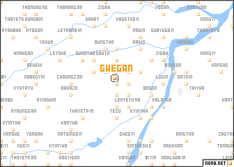 map of Gwegan