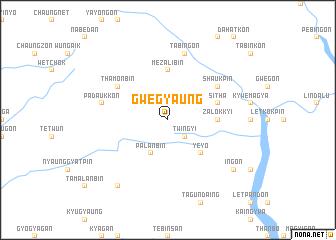 map of Gwegyaung