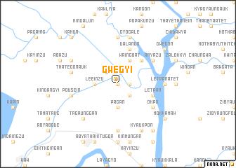 map of Gwegyi