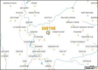 map of Gwethe