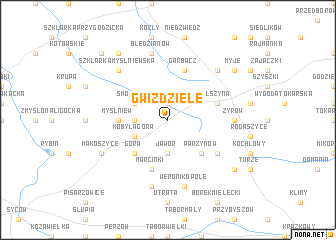 map of Gwiździele