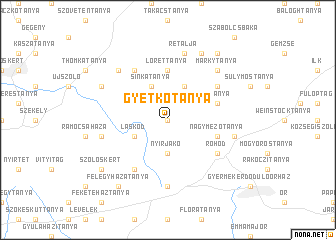 map of Gyetkótanya