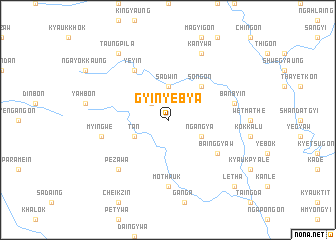 map of Gyinyebya