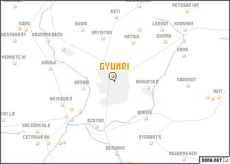 Gyumri Armenia map nonanet