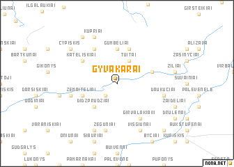 map of Gyvakarai