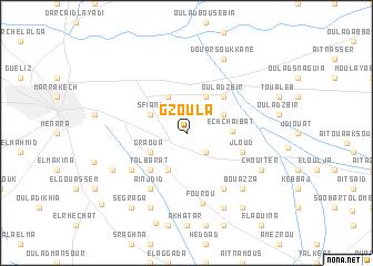 map of Gzoula