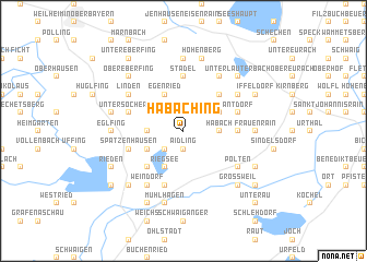 map of Habaching