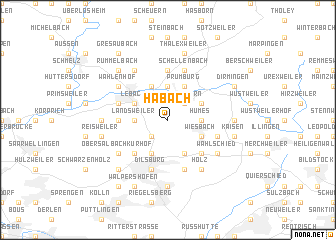 map of Habach