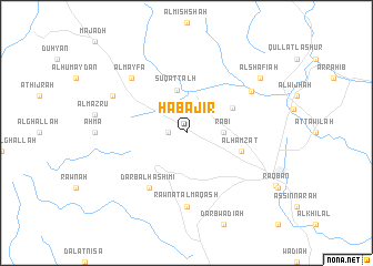 map of Ḩabājir