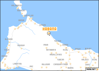 map of Habana
